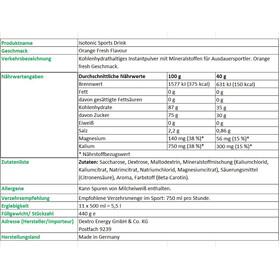 Dextro Energy Isotonic Sports Drink Orange Fresh 440g